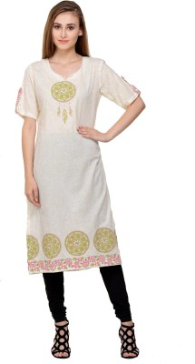 IndianKalakari.com Casual Printed Women Kurti(Purple)