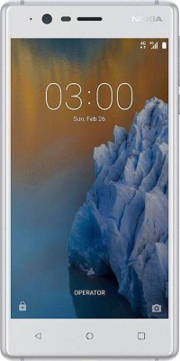 Nokia 3 (Silver White, 16 GB)(2 GB RAM) at flipkart