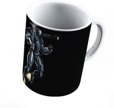Pics And You Superhero Themed 359 War Machine White Coffee (Ceramic, 11oz, High Quality Glossy Print) - WM11SH359 Ceramic Mug(350 ml)  available at flipkart for Rs.299