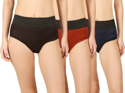 Vaishma Women Hipster Multicolor Panty(Pack of 3)