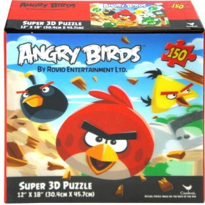 Angry Birds Super 3D Puzzle 12 X 18(150 Pieces)