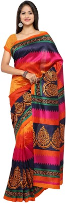 vaamsi Printed Bollywood Art Silk Saree Multicolor vaamsi Women's Sarees