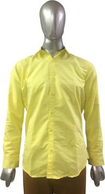 Rare Men's Solid Formal Yellow Shirt