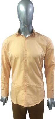 Rare Men's Solid Formal Orange Shirt