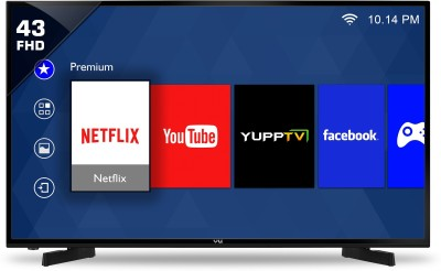 VU 43 inch Full HD LED Smart TV is one of the best LED televisions under 40000