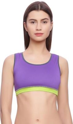 Rosaline by Rosaline by Zivame Women Sports Lightly Padded Bra(Purple)