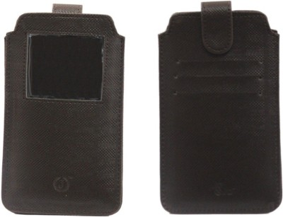 J Pouch for LG L70 Dual D325(WINE RED, Artificial Leather)