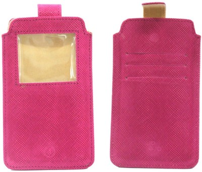 JoJo Pouch for Micromax A88 Canvas Music(Exotic Pink, Artificial Leather)