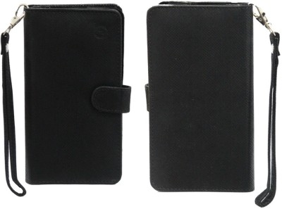 JoJo Pouch for Micromax A88 Canvas Music(Black, Artificial Leather)