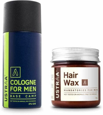 Ustraa By Happily Unmarried Cologne Spray & Hair Wax- Pack of 2(Set of 2)