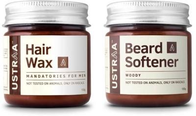 Ustraa By Happily Unmarried Beard Softener & Hair Wax-Pack of 2(Set of 2)
