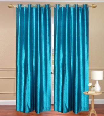 Homebird Polyester Blue Plain Door Curtain(213 cm in Height, (6.9 ft), Pack of 10) at flipkart