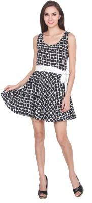 The Vanca Women A-line Black, White Dress