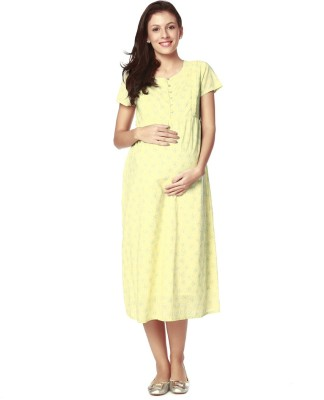 eb7f2713d74 Buy Nine Maternity Wear Women A-line Multicolor Dress on Flipkart ...