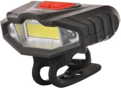 Dark Horse Bicycle Imported CE Standard USB Rechargeable Super Bright Front Light with Red/Blue Warning Light Feature LED Front Light Black Dark Horse