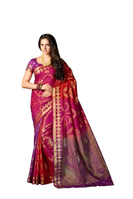 M.S.Retail Self Design Kanjivaram Silk Saree(Multicolor)