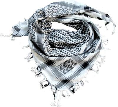 ETTIBETRENDY Geometric Print Cotton Blend Men Scarf
