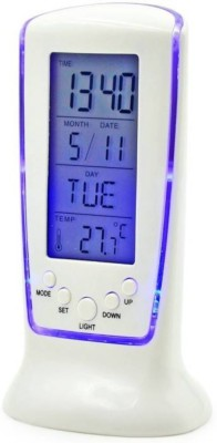 Ace Digital White Blue LCD Alarm, Day Date, Temperature Clock  available at flipkart for Rs.249