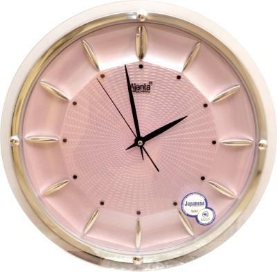 Ajanta Analog 32 cm X 32 cm Wall Clock(White, Pink, With Glass)