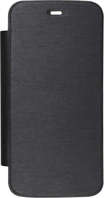 DMG Flip Cover for Micromax Canvas Lite A92(Black, Grip Case)