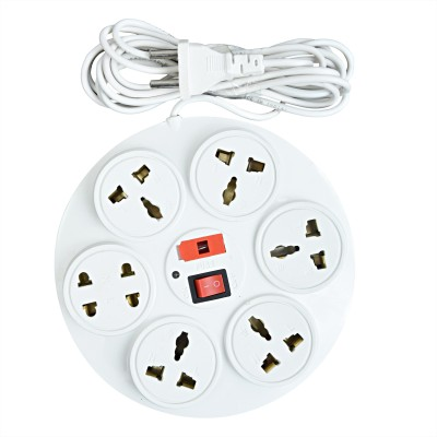 Cion Multi Socket Power Strip extension cord with switch & Indicator 6 A Three Pin Socket  available at flipkart for Rs.279