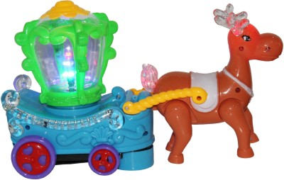 Toys Factory FUN TRAIN ENGINE WITH 3D LIGHTS & FOUNTAIN TOY FOR KIDS(Multicolor)