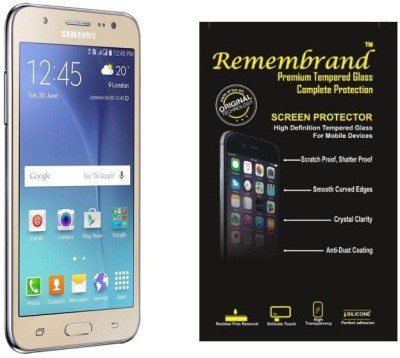 Remembrand Tempered Glass Guard for Samsung Galaxy J7, SM-J700(Pack of 1)
