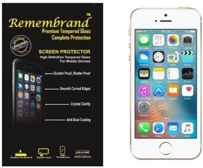 Remembrand Front and Back Tempered Glass for Apple iPhone 5s(Pack of 1)