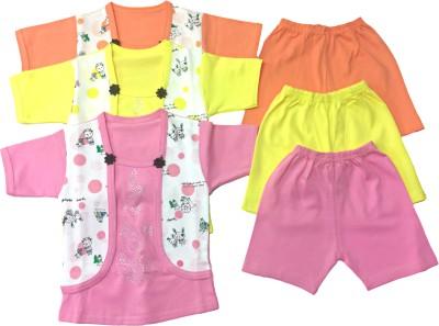 Desi Weaver Baby Boys & Baby Girls Casual Top Shorts(Multicolor)