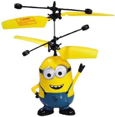 KM ROYALS Flying Minion Helicopter With Remote(Yellow)(Multicolor)  available at flipkart for Rs.499