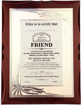 36 off on atpata funky world s best friend premium certificate