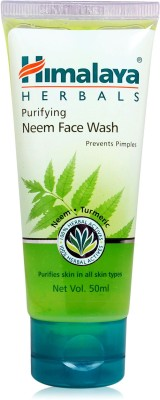 Himalaya neem purifying Face Wash(50 ml)  available at flipkart for Rs.60