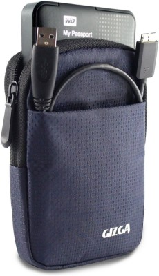 "Gizga Hard Drive Case 2.5 inch "" Impact Resistant Jacket Pouch(For 2.5"" Hard Drive Case, Dark Blue)"