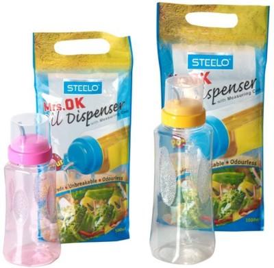 Steelo 1000 ml, 500 ml Cooking Oil Dispenser Set Pack of 2 Steelo Oil Dispensers