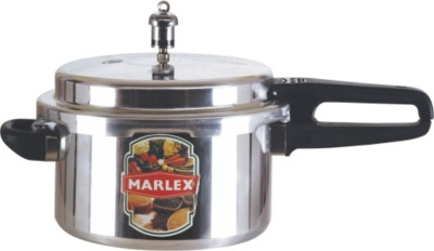 Marlex Aluminium Induction Base Outer Lid Deluxe Standard 5 L Pressure Cooker with Induction Bottom(Aluminium)
