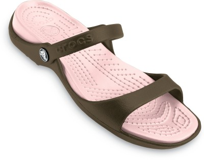 Crocs Women Chocolate/Cotton Candy Clogs at flipkart