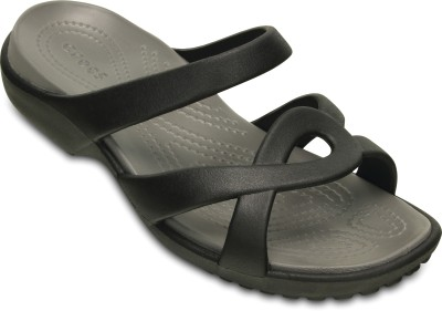 Crocs Women Black/Smoke Clogs at flipkart