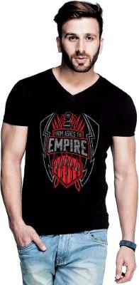 IZZARD Printed Men's V-neck Black T-Shirt