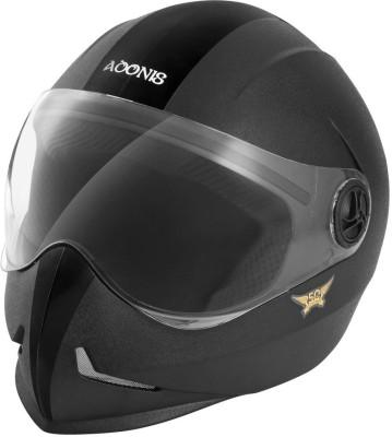 Steelbird SB-50 Adonis Classic Motorbike Helmet(Black)