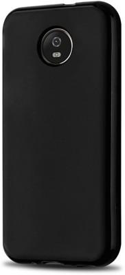 Noise Back Cover for Motorola Moto E4 Plus Black Noise Plain Cases   Covers