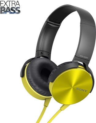Sony MDR-XB450 Headphone(Yellow, On the Ear) 1