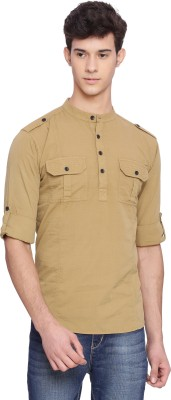 Svanik Men Solid Straight Kurta(Brown) at flipkart