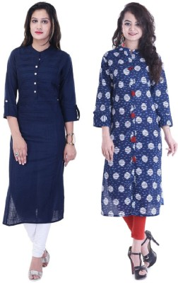 Nextar Casual Self Design Women Kurti(Pack of 2, Grey)