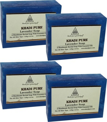 Khadi Pure Herbal Lavender Soap(500 g, Pack of 4)  available at flipkart for Rs.252