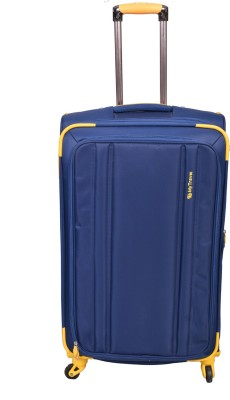 PRAGEE EXCLUSIVE STYLISH BLUE CHECK IN TROLLEY BAG Check in Luggage   28 inch PRAGEE Suitcases