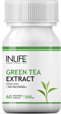 Inlife Green Tea Extract Supplement (60 Capsules)