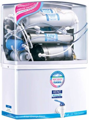 Kent Grand litre 8 L RO + UV +UF Water Purifier(White)