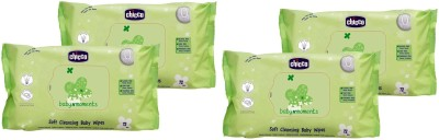 Chicco Soft Cleansing baby Wipes 72pcs (4 Pkt)(4 Pieces)