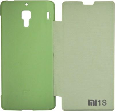 Coverage Flip Cover for Mi Redmi 1S Green