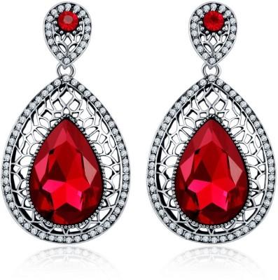 Jewels Galaxy Luxuria Crystal Copper Drops   Danglers Jewels Galaxy Earrings